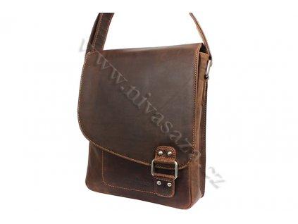 Pánská kožená taška Green Wood 836H-KHA hnědá
