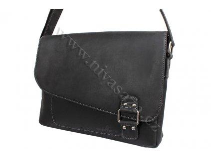 Pánská kožená taška Green Wood 837H černá