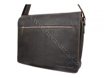 Pánská kožená taška Green Wood 835H-DBR tmavě hnědá