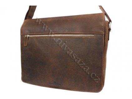 Pánská kožená taška Green Wood 835H-KHA hnědá