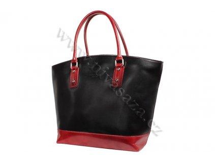 Dámská kožená kabelka ITA3658-B2 černo-červená