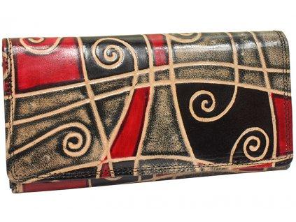 Dámská kožená peněženka Nivasaža N9-SNT-MG barevná