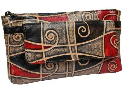 Dámská kožená taštička Nivasaža N23-SNT-MG barevná
