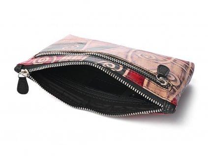 Dámská kožená taštička Nivasaža N230-SNT-MG barevná
