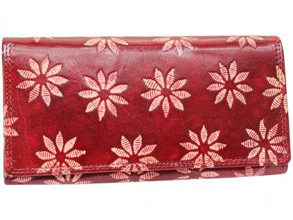 Dámská kožená peněženka Nivasaža N9-SNT-RF červená
