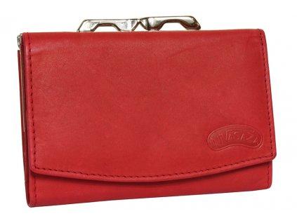 Dámská kožená peněženka Nivasaža N32-MTH-R červená
