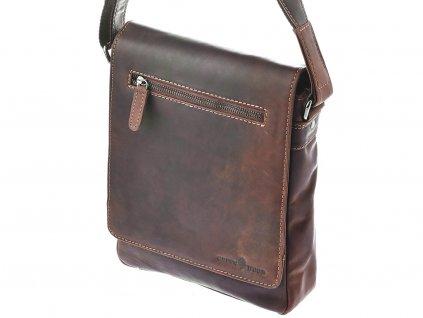 Pánská kožená taška Green Wood 6308H-SND hnědá