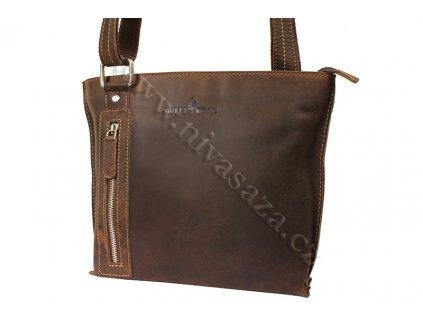 Dámská kožená kabelka Green Wood 5773H-KHA hnědá