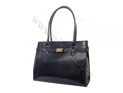 Dámská kožená kabelka ITA4477 modrá