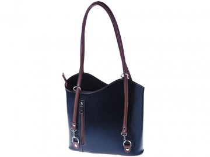 Dámská kožená kabelka ITA594-B černá