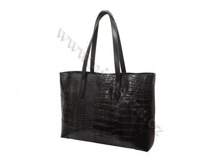 Dámská kožená kabelka ITA9851-B černá