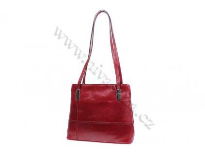 Dámská kožená kabelka ITA2635-R červená