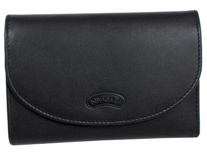 5bac70fd6 Dámská kožená peněženka Nivasaža N263-MLN-B černá