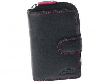 Dámská kožená peněženka Nivasaža N120-FNP-B černá