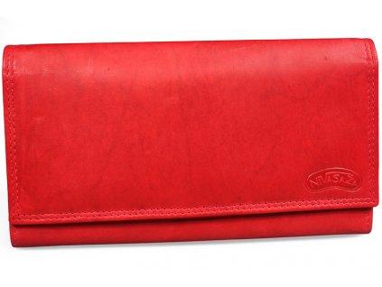 Dámská kožená peněženka Nivasaža N21-MTH-R červená