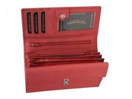 Dámská kožená peněženka Nivasaža N21-NAB-P růžová