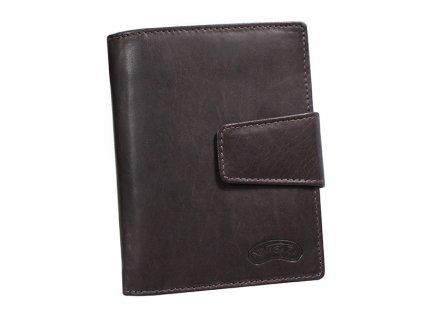 Dámská kožená peněženka Nivasaža N43-MTH-BR hnědá
