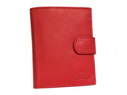 Dámská kožená peněženka Nivasaža N75-MTH-R červená
