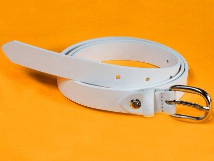 Dámský kožený pásek Bronzino Lei 10393/20 bílý