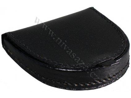 Kožená peněženka na mince PE409-B černá