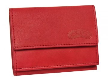 Dámská kožená peněženka Nivasaža N38-MTH-R červená