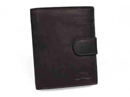 Kožená peněženka Nivasaža N75-MTH-B černá