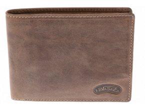 Pánská kožená peněženka Nivasaža N13-HNT-BR hnědá