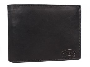 Pánská kožená peněženka Nivasaža N15-MTH-B černá