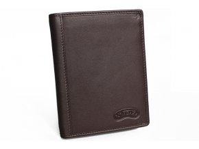 Pánská kožená peněženka Nivasaža N202-PIC-BR hnědá