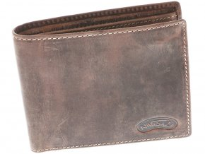 Pánská kožená peněženka Nivasaža N212-HNT-BR hnědá
