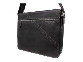 Pánská kožená taška Green Wood 843A-BLK černá
