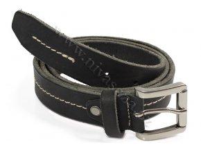 Pánský kožený pásek Bronzino 10383/30 černý