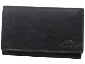 Dámská kožená peněženka Nivasaža N72-MTH-B černá