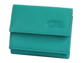 Dámská kožená peněženka Nivasaža N38-JPT-TR tyrkysová