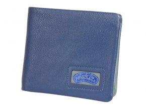 Pánská kožená peněženka Nivasaža N219-NAB-BLG modrá