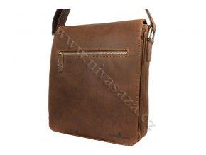 Pánská kožená taška Green Wood 584H-KHA hnědá