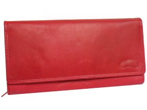 Kožená kasírka Nivasaža N54-MTH-R červená