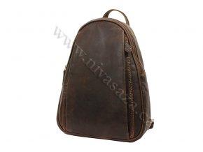 Dámský kožený batůžek Green Wood 12337H hnědý