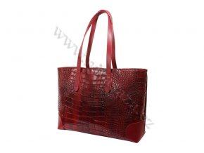 Dámská kožená kabelka ITA9851 červená