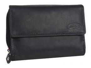 Dámská kožená peněženka Nivasaža N73-MTH-B černá