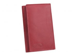 Dámská kožená peněženka Nivasaža N72-MTH-R2 tmavě červená