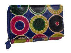 Dámská kožená peněženka Nivasaža N157-SNT-MC barevná