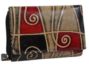 Dámská kožená peněženka Nivasaža N157-SNT-MG barevná