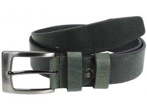 Kožený pásek Nivasaža N2000-HNT-BG tmavě zelená