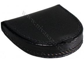 Kožená peněženka na mince PE408-B černá
