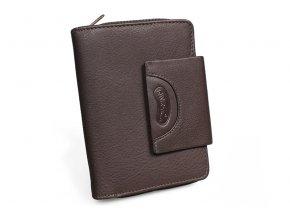 Dámská kožená peněženka Nivasaža N208-PIC-BR hnědá