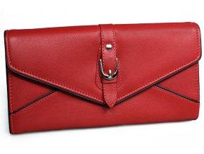 Dámská kožená peněženka Nivasaža N209-PIC-R červená