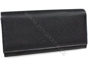 Kožená kasírka P1259 černá