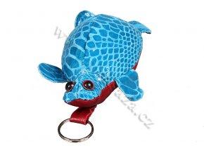 Kožená klíčenka - želvička tyrkysová