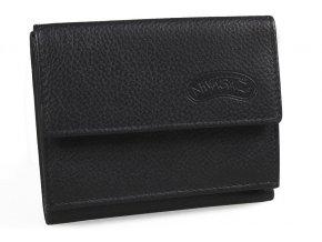 Kožená peněženka Nivasaža N38-YDM-B černá